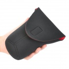 Protective High Elastic Waterproof Cloth Bag for DSLR Camera Lens- Black + Red (Large)