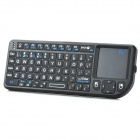 RII K01 + Mini Wireless 2.4 GHz 72-Key Keyboard w / Laser Backlight + para HTPC + Mais - Preto