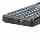 RII K01+ Mini Wireless 2.4GHz 72-Key Keyboard w/ Laser + Backlight for HTPC + More - Black