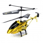 IA-8837 Rechargeable 3.5-CH IR Remote Control R/C Helicopter w/ Gyro / LED - Golden Yellow + Black
