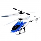 ZR-Z006 Rechargeable 3-CH IR Remote Control R/C helicopter w/ Gyro - Blue + Black
