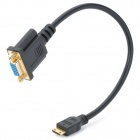 Mini HDMI Male to VGA Female Adapter Cable - Black (30cm)