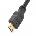 Mini HDMI macho para fêmea adaptador VGA Cable - Black (30cm)