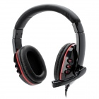 Kanen KM-790 Wired Headset Headphones w/ Microphone - Black + Red (3.5mm Plug / 200cm-Cable)