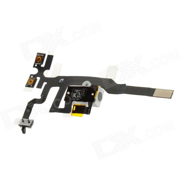 Repair Part Replacement Earphones Audio Jack Flex Cable for Iphone 4S - White  replacement headphone audio jack flex cable for iphone 4 cdma