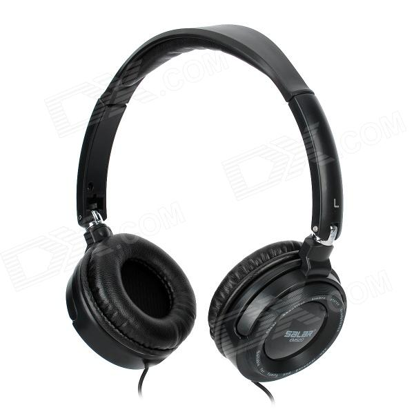 SALAR EM520 Folding Headset Headphones for MP3 / MP4 / MP5 / Ipad / Iphone - Black (3.5mm Plug) eleckey™ portable wireless bluetooth speaker built in hands free speakerphone and 8 hour rechargeable battery clear and crispy sound quality works with iphone ipad ipod mp3 player tablet laptop computers and any bluetooth enabled device support