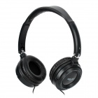 SALAR EM520 Folding Headset Headphones for MP3 / MP4 / MP5 / iPad / iPhone - Black (3.5mm Plug)