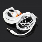3,5 mm a prueba de agua Looping MP3 Player w / FM + USB + auriculares - Blanco + Negro