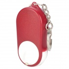 Folding Keychain 5X Magnifier w/ 1-LED White Light - Red + White (2 x CR2016)