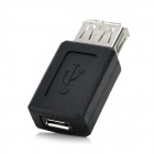 USB Female to Micro USB Female Adapter - Black