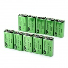 GP 1604G 6F22 9V 300mAh Green Cell Battery - Green