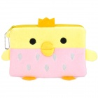 Cute Chicken Shaped Soft Plush Hand Bag - Yellow + Pink