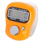 "0.8"" LCD Mini Index Wear Tally Counter - Orange + Silver (1 x 377)"