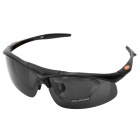 Panless S866-2 Outdoor Sports Protection Anti-Shock Men's Goggles w/ Replacement Lens - Black