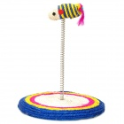TR-0319 Colorful Sisal Hemp Mouse Spring Toy for Cat Pet - Multi-Color