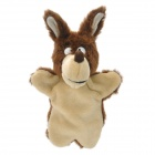 Cute Wolf Plush Doll Finger Toy - Deep Brown + Beige
