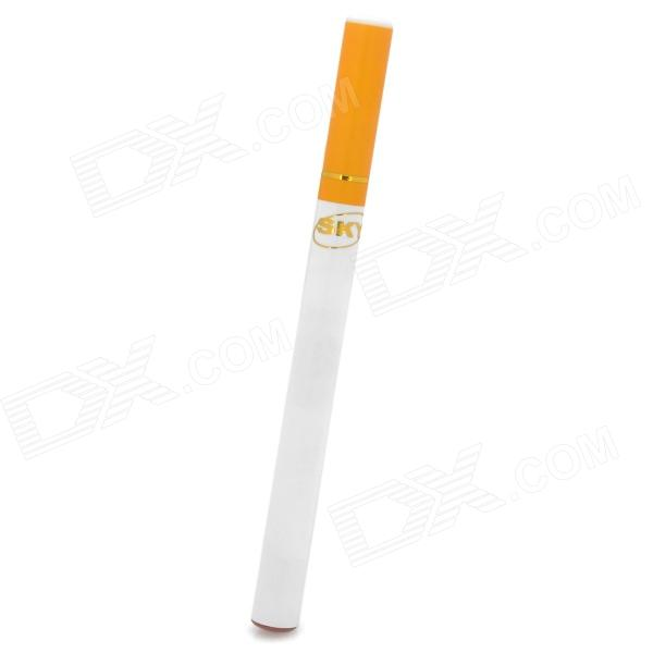 sky20121122-5 Quit Smoking Disposable Electronic Cigarette - White + Yellow (Dunhill Flavor)