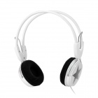 Five-Pointed Star Shape 3.5mm Plug Wire Headset Headphones - White + Black