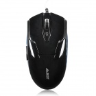 Ajazz A1080 Wired USB 2.0 600/1200 / 1600dpi Optical Gaming Mouse - Schwarz (190cm-Kabel)