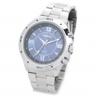 CHENXI 027G Fashion Man's Stainless Steel Band Quartz Analog Waterproof Wrist Watch - Silver