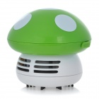 D516 Mushroom Style Handheld Electric Vacuum Cleaner - Green (2 x AA)