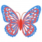 Wing Capas 3D Dual Shining Butterfly Hollow Inicio Etiqueta Decoración de la pared - multicolor (4 piezas)