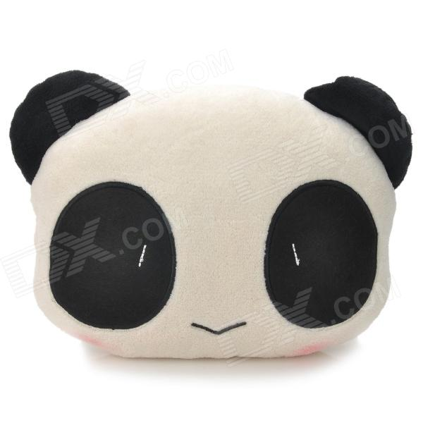 Cute Panda Style Car Sofa Cushion Head Neck Pillow - White + Black hot sale cute dolls 60cm oblong animals pillow panda stuffed nanoparticle elephant plush toys rabbit cushion birthday gift