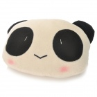 Cute Panda Style Car Sofa Coussin Head Neck Pillow - Blanc + Noir