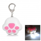 WL225 Cat's Claw Style 2-LED White Light Flashlight - White + Pink (3 x AG10)