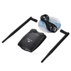 SL-3504N USB 2.0 IEEE802.11 b/g/n 300Mbps Wireless Wi-Fi LAN Adapter w/ 2 Antenna - Black