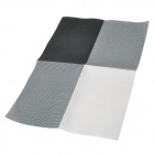 Western Food PVC Heat Insulation Pad Table Mat - Black + White