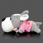 Cute Auto Car Room Bamboo Charcoal Dog Toy Odor Absorber - Pink + Grey + White