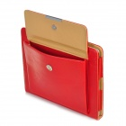 Classic Handheld Briefcase Design Protective PU Leather Cover Case for Ipad 2 / The New Ipad - Red