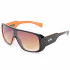 Fashion Resin Lens Cellulose Acetate Frame UV Protection Sunglasses Goggles - Black + Orange