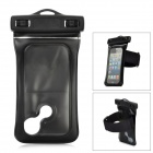 Protective Waterproof PVC Bag w/ Armband / Strap for iPhone 5 - Black