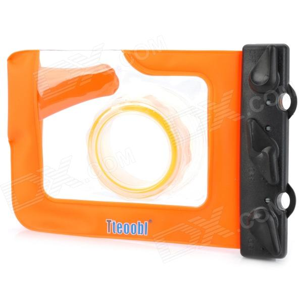 Tteoobl 318 20-Meter Outdoors Diving Waterproof Case for Camera w/ Neck Strap - Orange