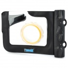 Tteoobl 318 20-Meter Outdoors Diving Waterproof Case for Camera w/ Neck Strap - Black
