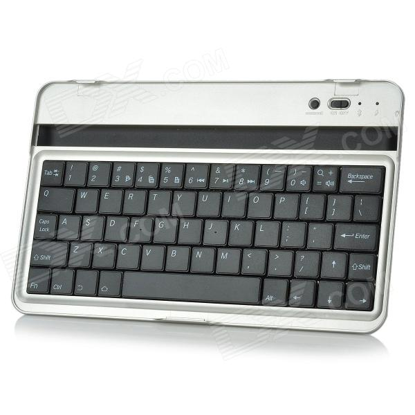 BG-7 Rechargeable Wireless Bluetooth 61-Key Keyboard for Google Nexus 7 - Silver + Black laptop keyboard for acer silver without frame bulgaria bu v 121646ck2 bg aezqs100110