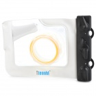Tteoobl 318 20-Meter Outdoors Diving Waterproof Case for Camera w/ Neck Strap - White