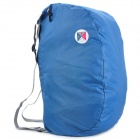 Folding Portable Poly Backpack / Shoulder / Aslant / Hand Bag - Dark Blue