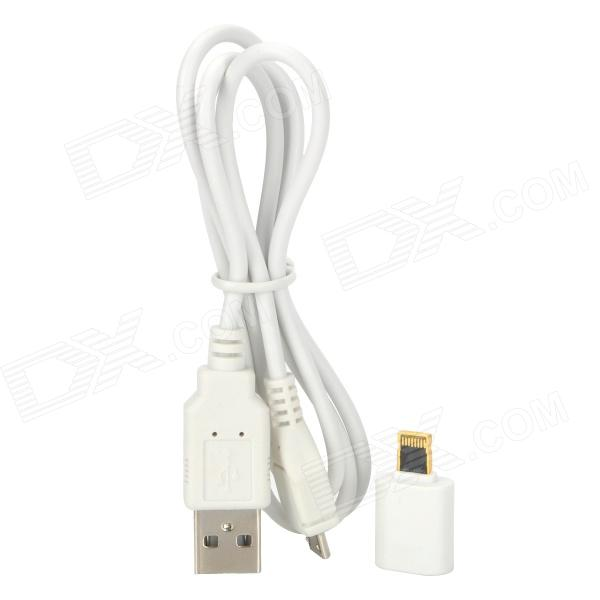 8-Pin Lightning Male to Micro USB Female Adapter for iPhone 5 / iPad Mini / iPod Touch 5 - White