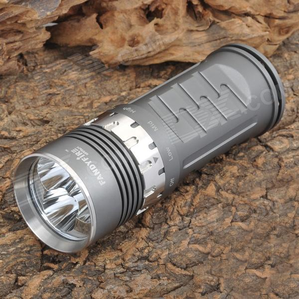FandyFire Darth 1420lm 4-Mode White Flashlight - Dark Grey (3 x 18650)