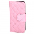 Protective PU Leather Flip Open Case Cover for Iphone 5 - Pink