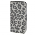 Leopard Style Protective PU Leather Case for Iphone 5 - Grey