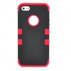 Detachable Protective Full Body Case for Iphone 5 - Red + Black
