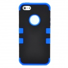 Detachable Protective Full Body Case for iPhone 5 - Blue + Black