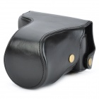 Protective PU Leather Case for Canon EOS M - Black