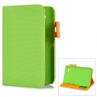 Basketball Pattern Protective PU Leather Cover PC Case for Samsung Galaxy Tab P3100 / P6200 - Green