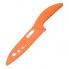 "6"" Stylish Ceramic Fruit Knife - Orange + White"
