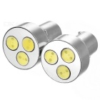 Car Steering White Light 3-LED 1.5W DC12V (2-Pack) Metallic Casing